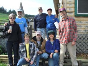 Volunteers at Paul and Susan\'s Farm Day with Summit Valley School